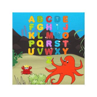 ABC's underwater 30.48cm x 30.48cm, 3.81cm Canvas Print
