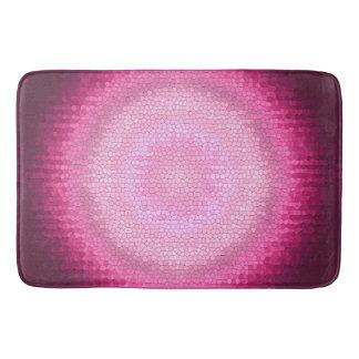 Abctract vitrage pink texture. bath mat