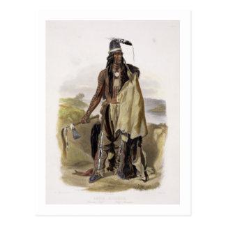 Abdih Hiddisch, a Minitarre Chief, plate 24 from V Postcard