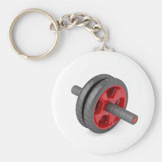 Abdominal toning wheel key ring