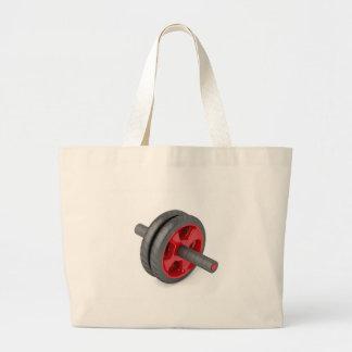 Abdominal toning wheel large tote bag
