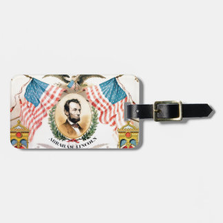abe banner art luggage tag
