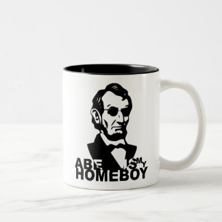 Abe Is My Homeboy Two-Tone Coffee Mug