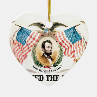 Abe liberator Lincoln Ceramic Ornament