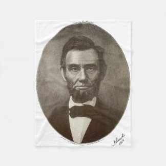 Abe Lincoln American President Vintage Portrait US Fleece Blanket