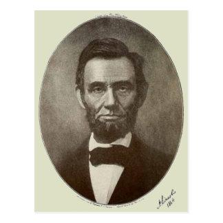 Abe Lincoln American President Vintage Portrait US Postcard