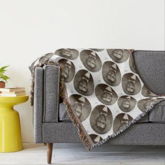 Abe Lincoln American President Vintage Portrait US Throw Blanket
