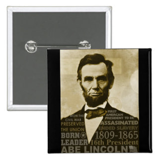 Abe Lincoln Pinback Buttons