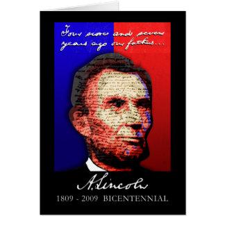 Abe Lincoln - Bicentennial Greeting Card