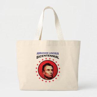 Abe Lincoln - Bicentennial Seal Large Tote Bag