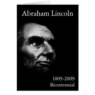 Abe Lincoln - Elegant White on Black Greeting Card