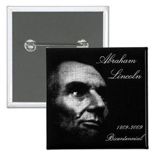 Abe Lincoln - Elegant White on Black Pin