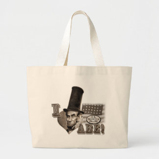 Abe Lincoln Fan Large Tote Bag