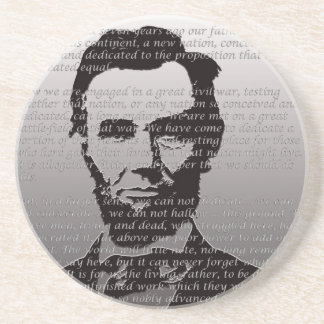 Abe Lincoln Gettysburg Address Drink Coaster