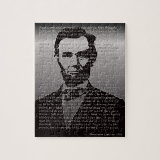 Abe Lincoln Gettysburg Address Jigsaw Puzzle