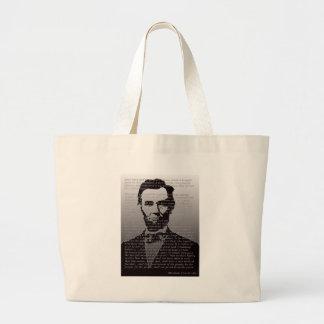 Abe Lincoln Gettysburg Address Large Tote Bag