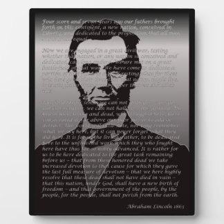 Abe Lincoln Gettysburg Address Plaque