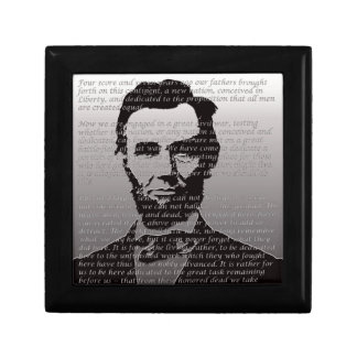 Abe Lincoln Gettysburg Address Small Square Gift Box