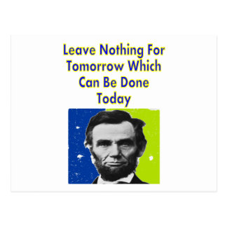 Abe Lincoln Quote T-Shirts & Gifts Postcard