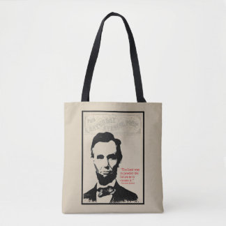 Abe Lincoln Quote Tote Bag