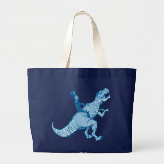 Abe Lincoln Riding A T-Rex Jumbo Tote Bag