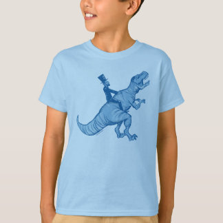 Abe Lincoln Riding A T-Rex Kids T-Shirt