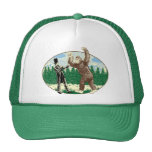 ABE LINCOLN: SASQUATCH HUNTER - Funny Bigfoot Logo Cap