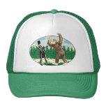 ABE LINCOLN: SASQUATCH HUNTER - Funny Bigfoot Logo Mesh Hats