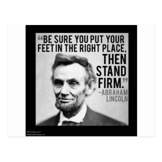"""Abe Lincoln & """"Stand Firm"""" Quote Postcard"""