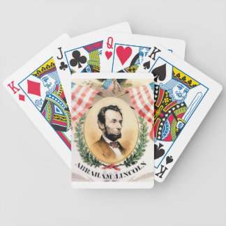 Abe oval bicycle playing cards