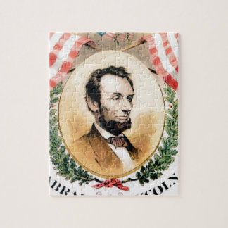 Abe oval jigsaw puzzle