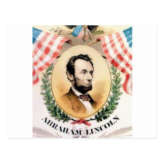Abe oval postcard