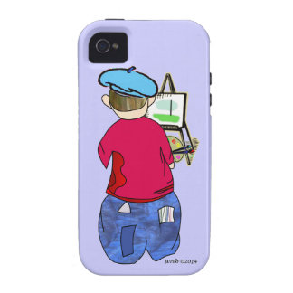 Abe R Doodle - Zee Artiste iPhone 4/4S Cases
