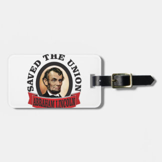 abe saved the union luggage tag