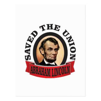 abe saved the union postcard