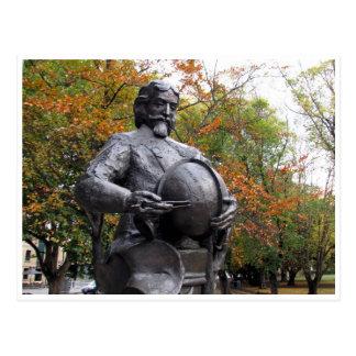abel tasman statue postcard