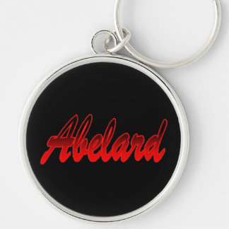 Abelard Black Red Round Keychain