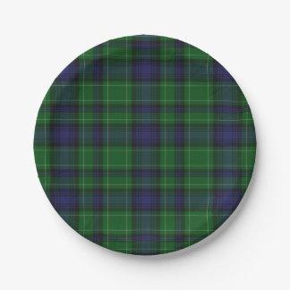 Abercrombie Clan Tartan Plaid Paper Plate