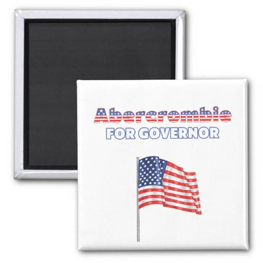 Abercrombie for Governor Patriotic American Flag Magnet