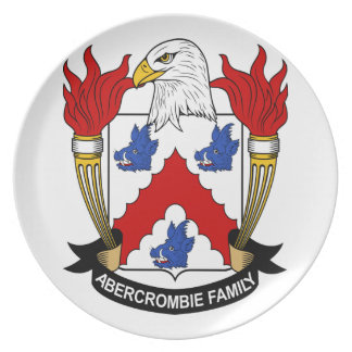 Abercromby, Coat of Arms (Crest) on a plate