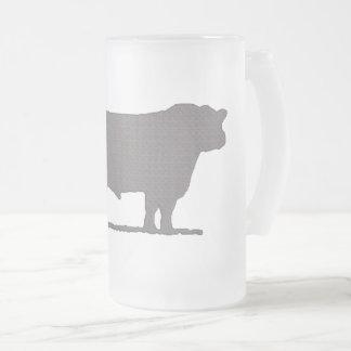 Aberdeen Angus Frosted Glass Mug