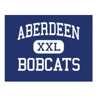 Aberdeen - Bobcats - High - Aberdeen Washington Postcard