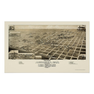 Aberdeen, SD Panoramic Map - 1883 Poster