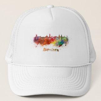 Aberdeen skyline in watercolor trucker hat