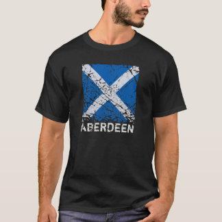 Aberdeen + Square Grunge Scottish Flag T-Shirt