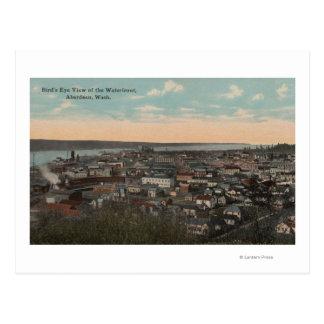 Aberdeen, WA - Bird's Eye View of Waterfront Postcard