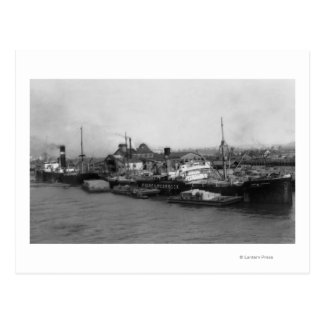 Aberdeen, WA - View of Waterfront and Shipping Postcard