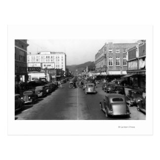 Aberdeen, WA - View of Wishkan Street Downtown Postcard