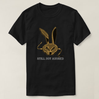 "Aberrant Hare T-Shirt – Silver ""Still Not Amused"""