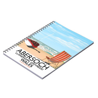 Abersoch Llanengan in Gwynedd, Wales travel poster Notebook